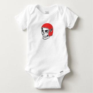 ☞ Skullracer motorcycle helmet Baby Onesie