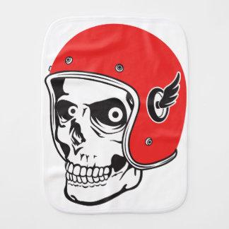 ☞ Skullracer motorcycle helmet Burp Cloth