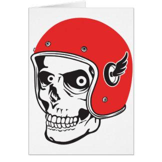 ☞ Skullracer motorcycle helmet Card
