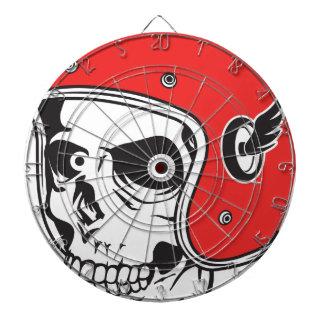 ☞ Skullracer motorcycle helmet Dartboard