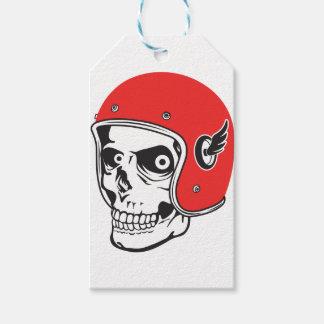 ☞ Skullracer motorcycle helmet Gift Tags