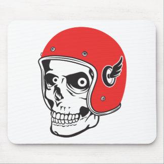 ☞ Skullracer motorcycle helmet Mouse Pad