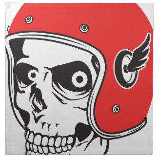 ☞ Skullracer motorcycle helmet Napkin