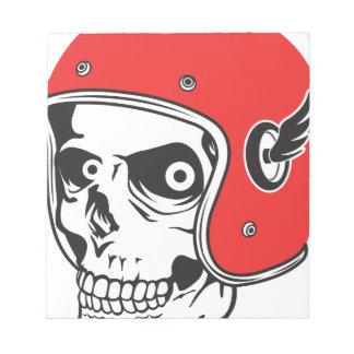 ☞ Skullracer motorcycle helmet Notepad
