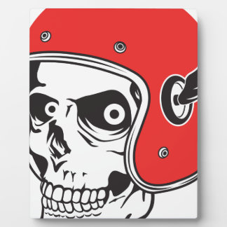 ☞ Skullracer motorcycle helmet Plaque