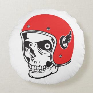 ☞ Skullracer motorcycle helmet Round Pillow