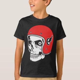 ☞ Skullracer motorcycle helmet T-Shirt