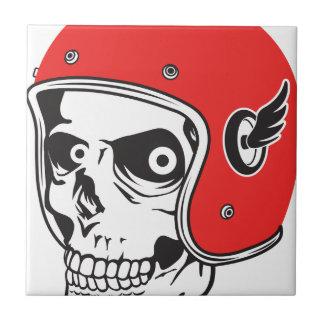 ☞ Skullracer motorcycle helmet Tile