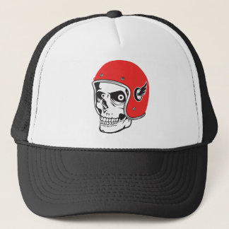 ☞ Skullracer motorcycle helmet Trucker Hat