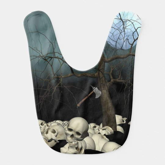Skulls and Axe Bib