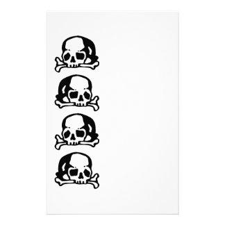 Skulls and Bones black Stationery