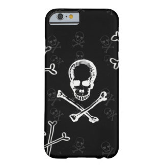 skulls and crossbones black barely there iPhone 6 case