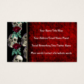 Skulls and Flowers Business Card