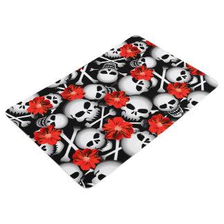 Skulls and flowers floor mat
