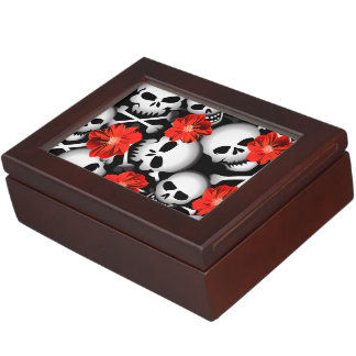Skulls and flowers keepsake box