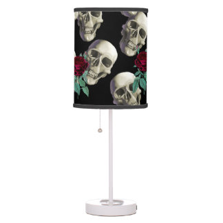 Skulls and Flowers Table Lamps