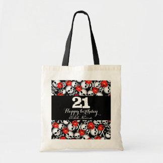Skulls and flowers tote bag