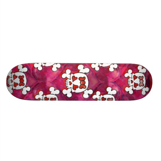 Skulls and Hearts Girl Skate Boards