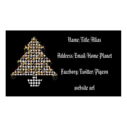 Skulls and Metal Tree Business Cards