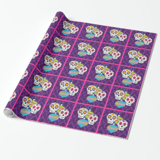 Skulls and Ornaments Wrapping Paper