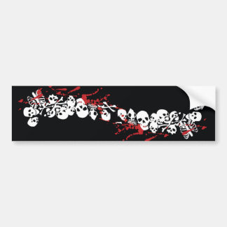 skulls and skeletons bumper sticker
