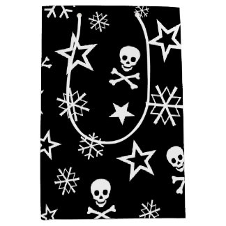 Skulls and Snowflakes Medium Gift Bag