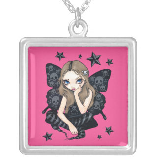 Skulls and Stars NECKLACE fairy gothic fantasy