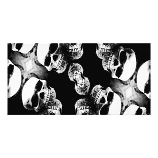 Skulls Black & White Photo Card Template