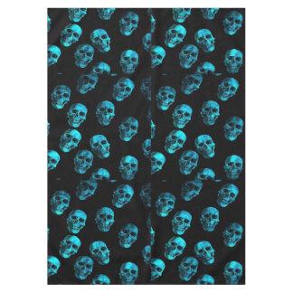 skulls blue 2 tablecloth