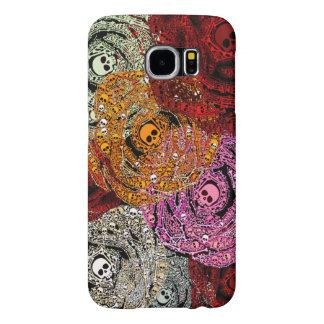 Skulls & Bones Colorful Flowers Roses Bouquet Samsung Galaxy S6 Cases