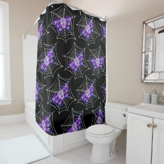 Skulls Butterfly Shower Curtain