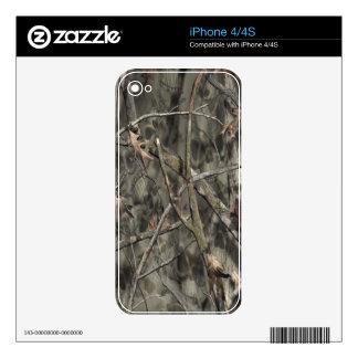 Skulls Camo II Skin iPhone 4 Decals