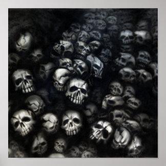 Skulls canvas poster