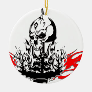 Skulls Ceramic Ornament