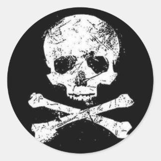 skulls classic round sticker