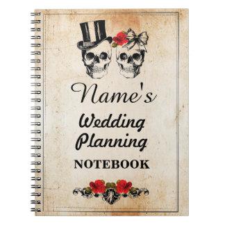 Skulls Cream Notebook Wedding Planning Note