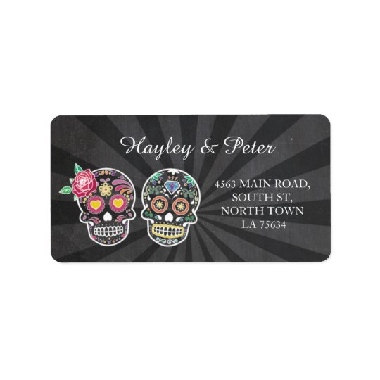 Skulls Halloween Address Labels Stickers Wedding