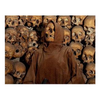 Skulls in a Capuchin Ossuary Postcard
