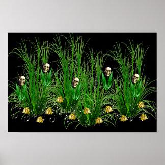 Skulls in the Weeds Poster