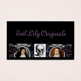 Skulls Nuns and Lilies Business Card