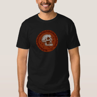 Skulls Orange and White T-shirts