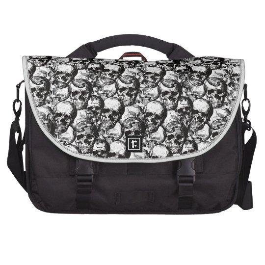 Skulls pattern bags for laptop