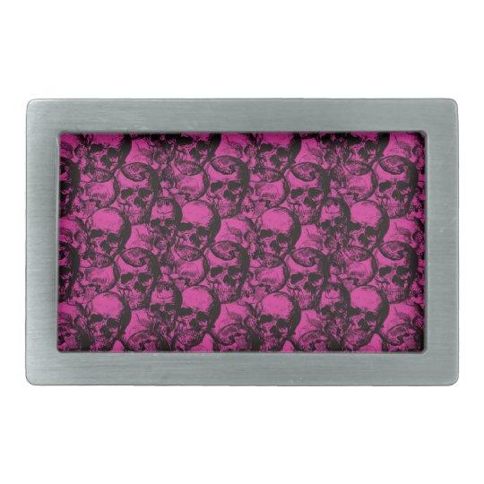 Skulls pattern belt buckles