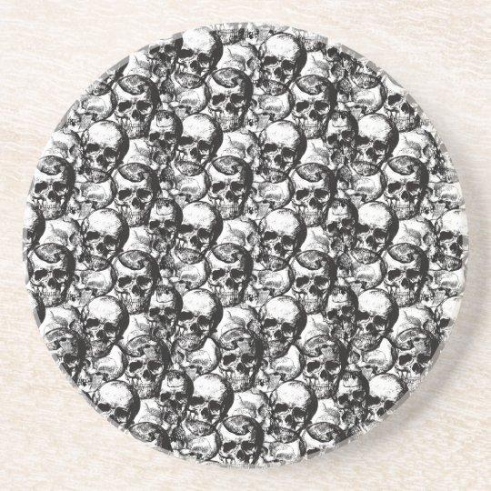 Skulls pattern beverage coaster