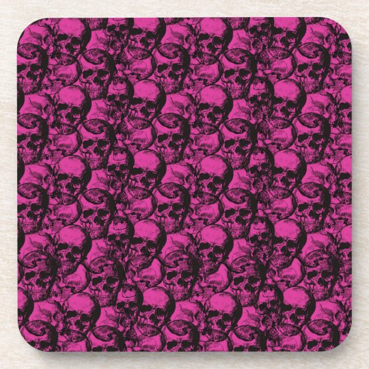 Skulls pattern drink coaster