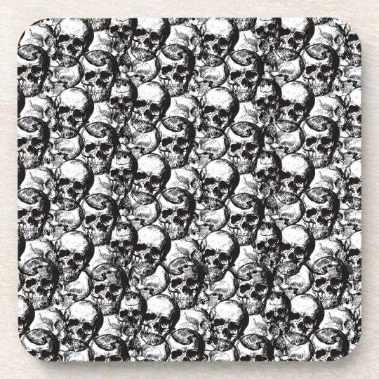 Skulls pattern drink coaster