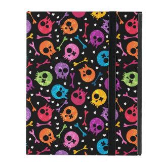 Skulls pattern iPad cover