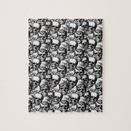 Skulls pattern jigsaw puzzle