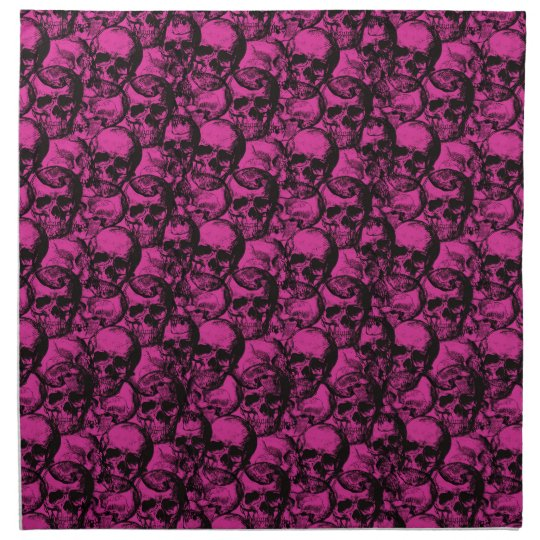 Skulls pattern napkin