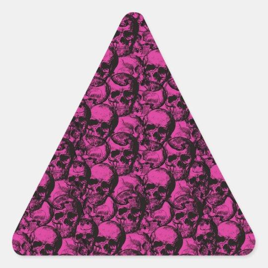 Skulls pattern triangle sticker